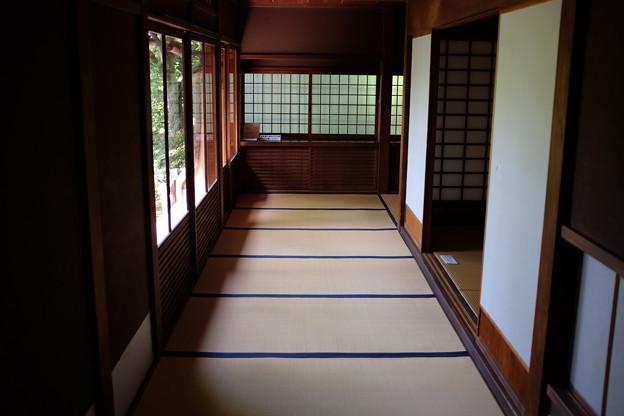 遠山記念館の畳の廊下
