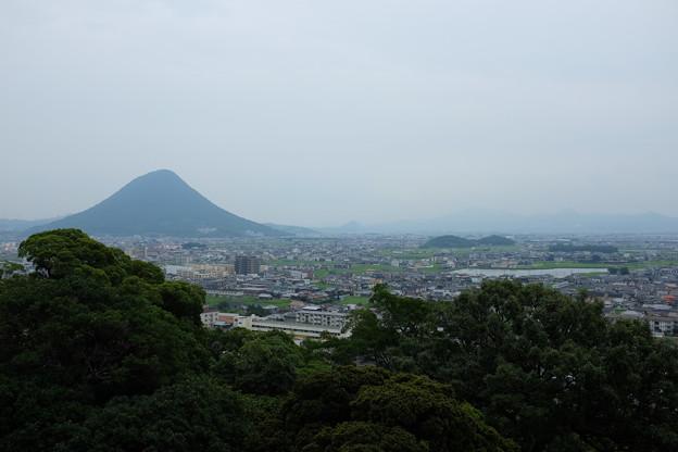 丸亀市街と讃岐富士
