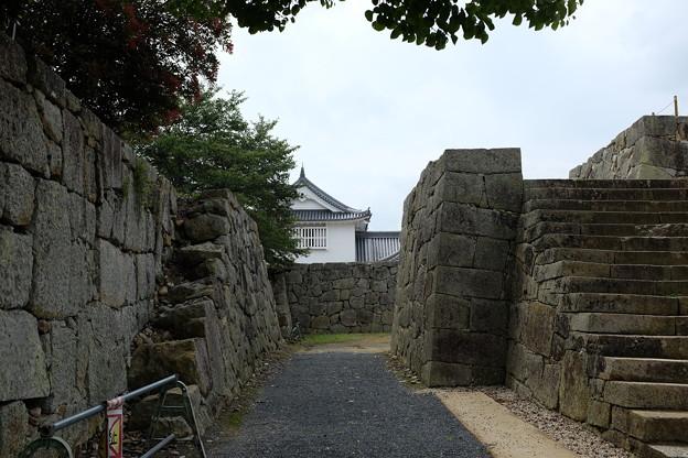 津山城の備中櫓と天守台