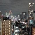 写真: 大阪-福島の夜景