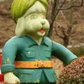 写真: 047 軍服を着た謎の犬 かみね公園