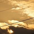 雲に沈む夕陽