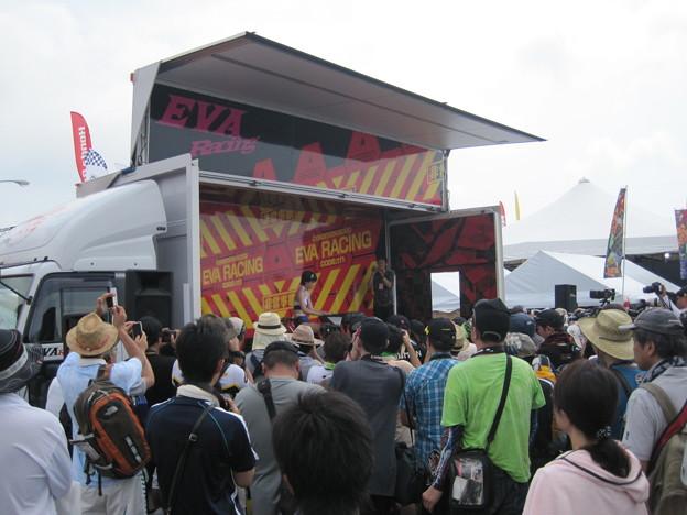 写真: 2014 鈴鹿8耐 KAWASAKI ZX-10R エヴァ シナジーフォースTRICK STAR 出口修 井筒仁康 グレゴリー・ルブラン893